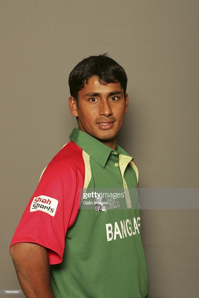 Mohammad Ashraful of Bangladesh during the ICC Twenty20 World Cup Headshots on September 7 2007 in Johannesburg South Africa