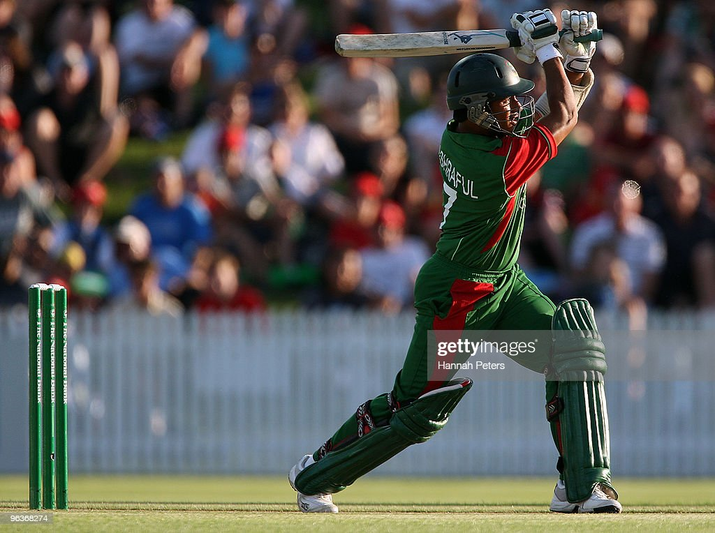 Mohammad Ashraful of Bangladesh during the Twenty20 International match between New Zealand and Bangladesh at Seddon Park on February 3 2010 in...