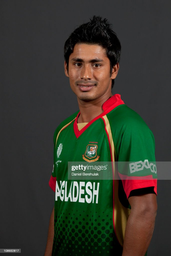 <a gi-track='captionPersonalityLinkClicked' href=/galleries/search?phrase=Mohammad+Ashraful&family=editorial&specificpeople=224689 ng-click='$event.stopPropagation()'>Mohammad Ashraful</a> of Bangladesh poses for a portrait during the Bangladesh team portrait session on February 9, 2011 in Dhaka, Bangladesh.