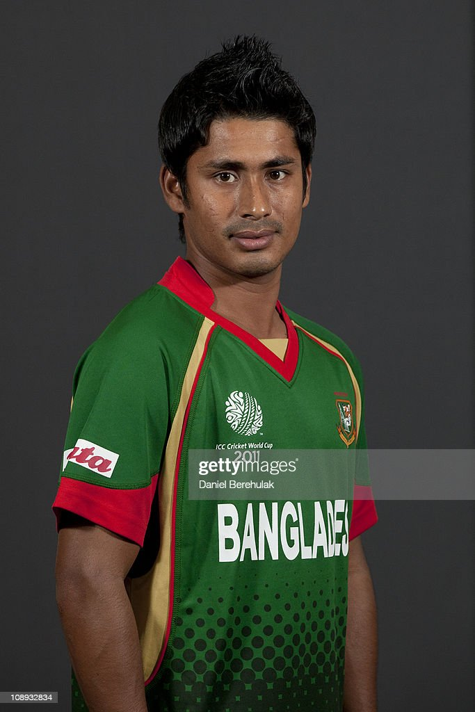 Mohammad Ashraful of Bangladesh poses for a portrait during the Bangladesh team portrait session on February 9 2011 in Dhaka Bangladesh