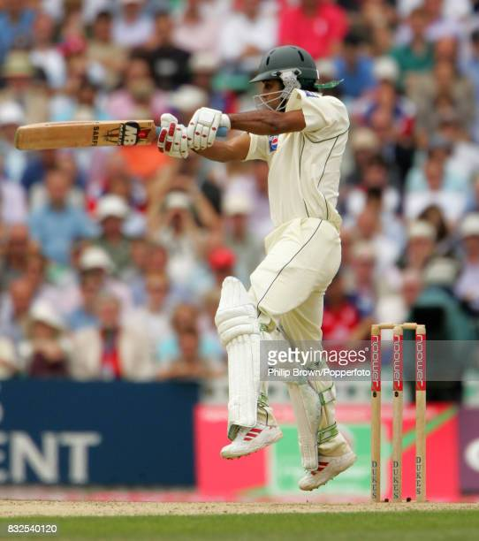 Mohammad Hafeez batting for Pakistan during his innings of 95 runs in the 4th Test match between England and Pakistan at The Oval London 18th August...