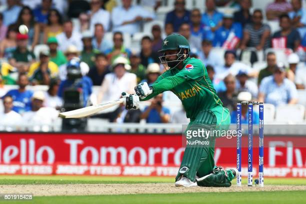 Mohammad Hafeez of Pakistan during the ICC Champions Trophy Final match between India and Pakistan at The Oval in London on June 18 2017