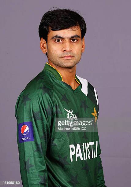 Mohammad Hafeez of Pakistan pictured during a Pakistan Portrait Session ahead of the ICC T20 World Cup at the Cinnamon Grand Hotel on September 13...