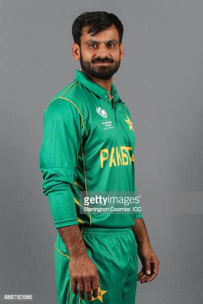 Mohammad Hafeez of Pakistan poses during the portrait session at the Malmaison Hotel on May 26 2017 in Birmingham England