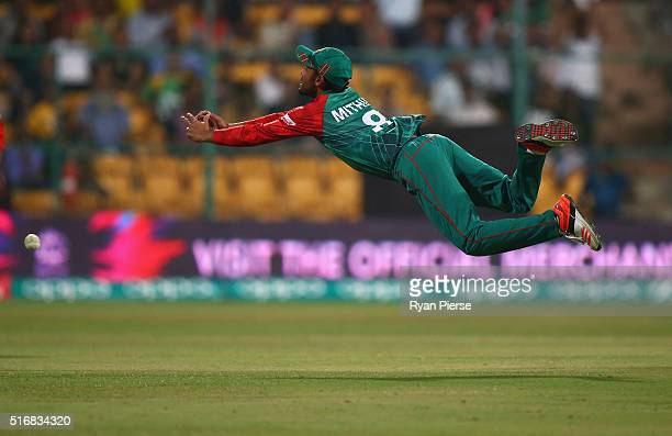 Mohammad Mithun of Bangladesh drops Shane Watson of Australia during the ICC World Twenty20 India 2016 Super 10s Group 2 match between Australia and...
