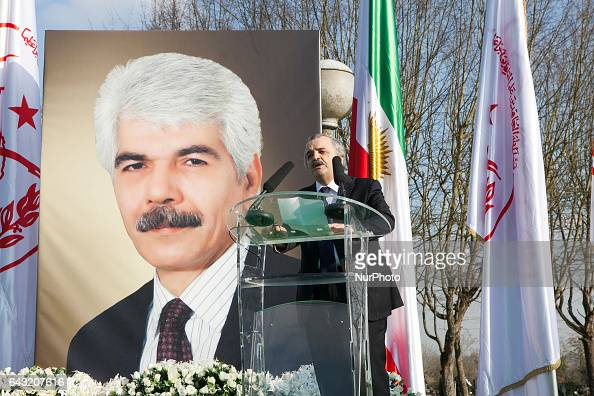 Mohammad Mohadesin during Funeral MohammadAli Jaberzadeh NCRI in Paris France on 18 February 2017 MohammadAli Jaberzadeh one of the most seasoned and...