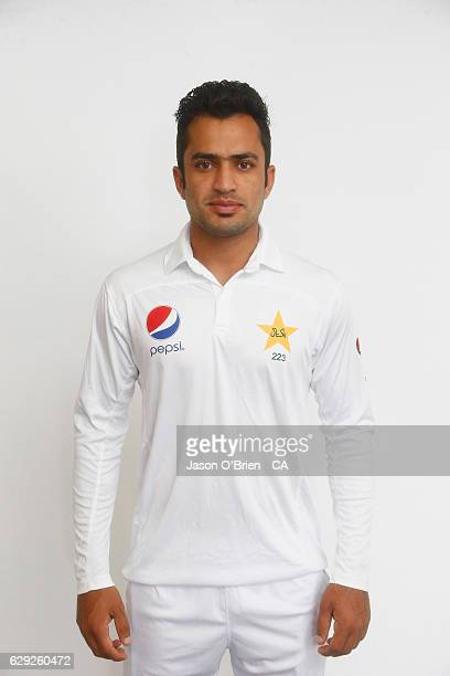Mohammad Nawaz poses during the Pakistan Test team headshots session on December 12 2016 in Brisbane Australia