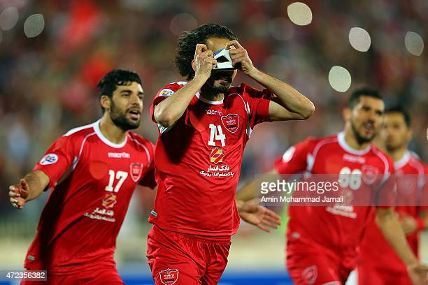 Mohammad Noori celebrates after the Goal during persepolis against Bunyodkor AFC Champions League at Azadi Stadium on May 6 2015 in Tehran Iran