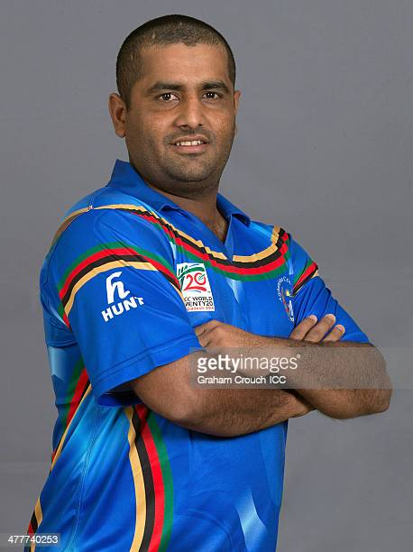 Mohammad Shahzad of the Afghanistan cricket team at the headshot session at the Peninsula Hotel ahead of the ICC World Twenty20 Bangladesh 2014...