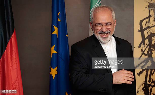 MohammadJavad Zarif minister of foreign affairs of Iran joins a bilateral meeting at the 51st Munich Security Conference on February 6 2015 in Munich...