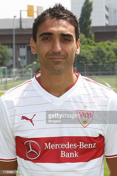 Mohammed Abdellaoue poses during the VfB Stuttgart team presentation on July 10 2013 in Stuttgart Germany