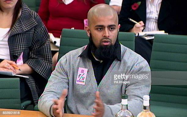 Mohammed Abdul Kahar one of the two brothers arrested in the infamous Forest Gate terror raid gives evidence at a Home Affairs Select Committee...