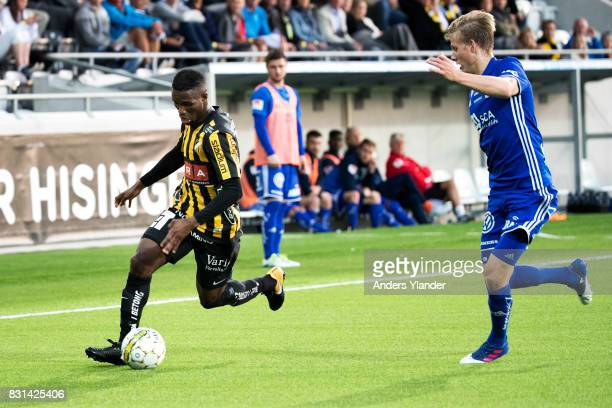 Mohammed Abubakari controls the ball during the Allsvenskan match between BK Hacken and GIF Sundsvall at Bravida Arena on August 14 2017 in...