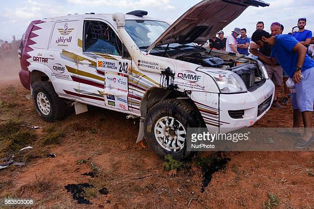 Mohammed Al Harqan Feras Allouh / Toyota Landcruiser / 4WD Jaton Racing Team during Baja Aragon World Cross Country Rally event celebrated in Teruel...