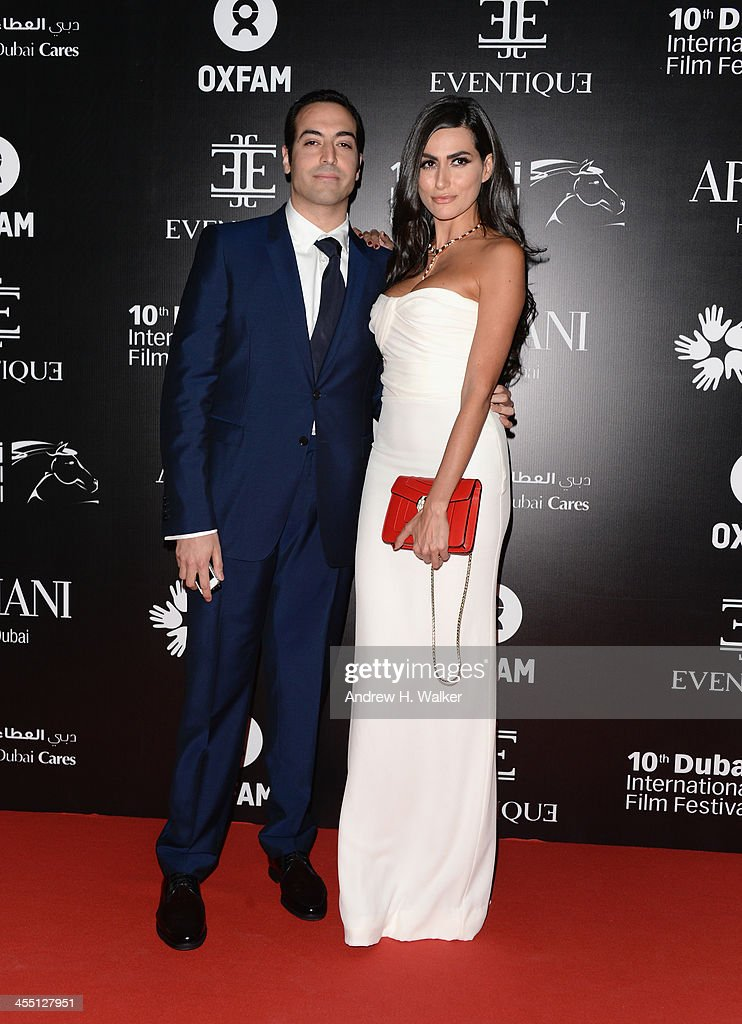 Mohammed Al Turki and Diala Makki attend the Oxfam Charity Gala during day six of the 10th Annual Dubai International Film Festival held at the Armani Hotel on December 11, 2013 in Dubai, United Arab Emirates.