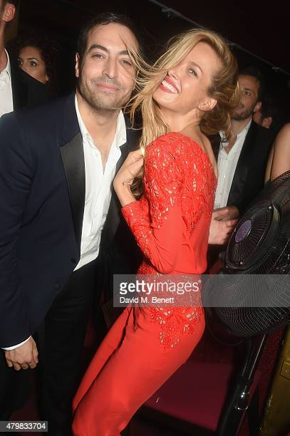 Mohammed Al Turki and Petra Nemcova attends the Lancome Celebrates 80 Years of Beauty With All Its Ambassadresses on July 7 2015 in Paris France