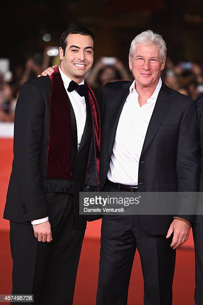 Mohammed Al Turki and Richard Gere attend the 'Time Out of Mind' Red Carpet during the 9th Rome Film Festival on October 19 2014 in Rome Italy