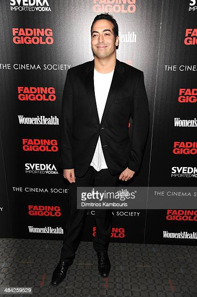 Mohammed Al Turki attends The Cinema Society Women's Health screening of Millennium Entertainment's 'Fading Gigolo'at SVA Theater on April 11 2014 in...