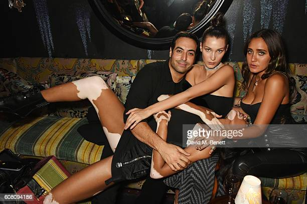 Mohammed Al Turki Bella Hadid Jesse Jo Stark and Winnie Harlow attend the LOVE Magazine and Marc Jacobs LFW Party to celebrate LOVE 165 collector's...