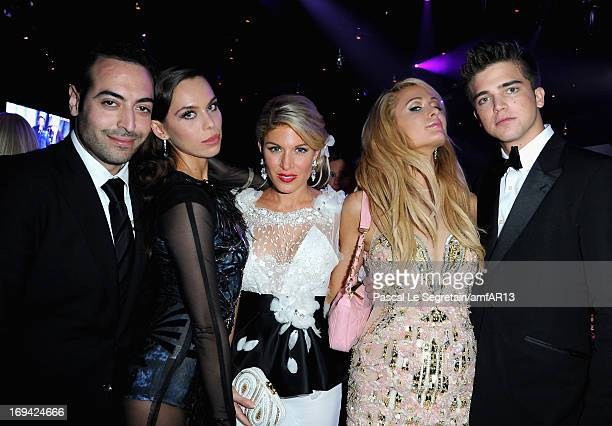Mohammed Al Turki Liliana Matthaeus Hofit Golan Paris Hilton and River Viiperi attend amfAR's 20th Annual Cinema Against AIDS during The 66th Annual...