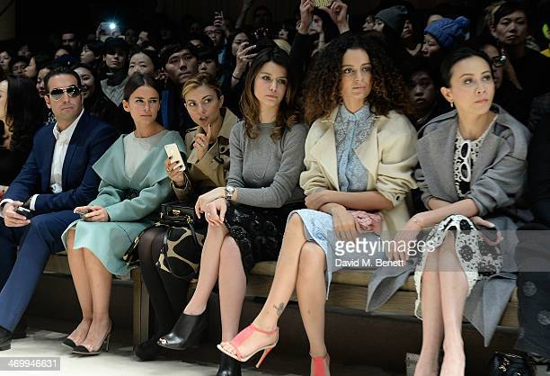 Mohammed al Turki Mira Duma guest Beren Saat Kangana Ranaut and Carina Lau sits front row at Burberry Womenswear Autumn/Winter 2014 at Kensington...
