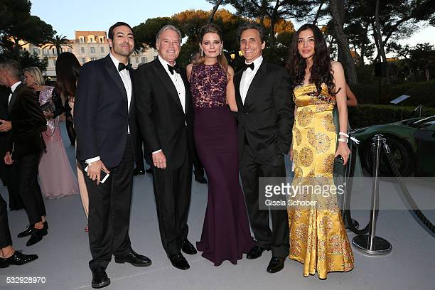 Mohammed Al Turki Tim Headington Mischa Barton and guests attends the amfAR's 23rd Cinema Against AIDS Gala at Hotel du CapEdenRoc on May 19 2016 in...