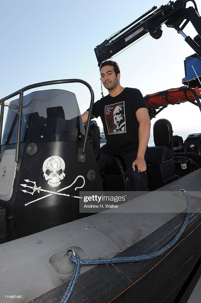 Mohammed Al Turki visits The Sea Shepard's Steve Irwin Vessel during The 64th Annual Cannes Film Festival on May 20, 2011 in Cannes Harbor, France.