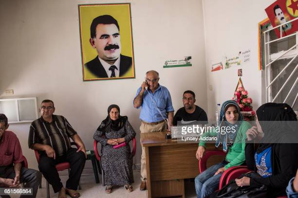 Mohammed Ali Mohammed 60 years the coChair of the Malagal one of the community meetings in Qamishlo attends a meeting with members of the community...