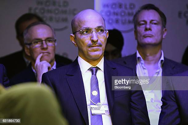 Mohammed AlJadaan Saudi Arabia's finance minister center looks on from the audience during a panel session at the World Economic Forum in Davos...