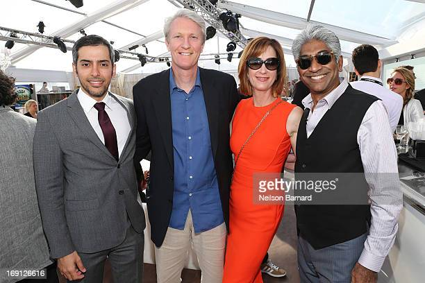 Mohammed AlOtaiba Chris McGurk Jamie McGurk and Ashok Amritraj attend the 'Chance of a Lifetime' Party during The 66th Annual Cannes Film Festival at...