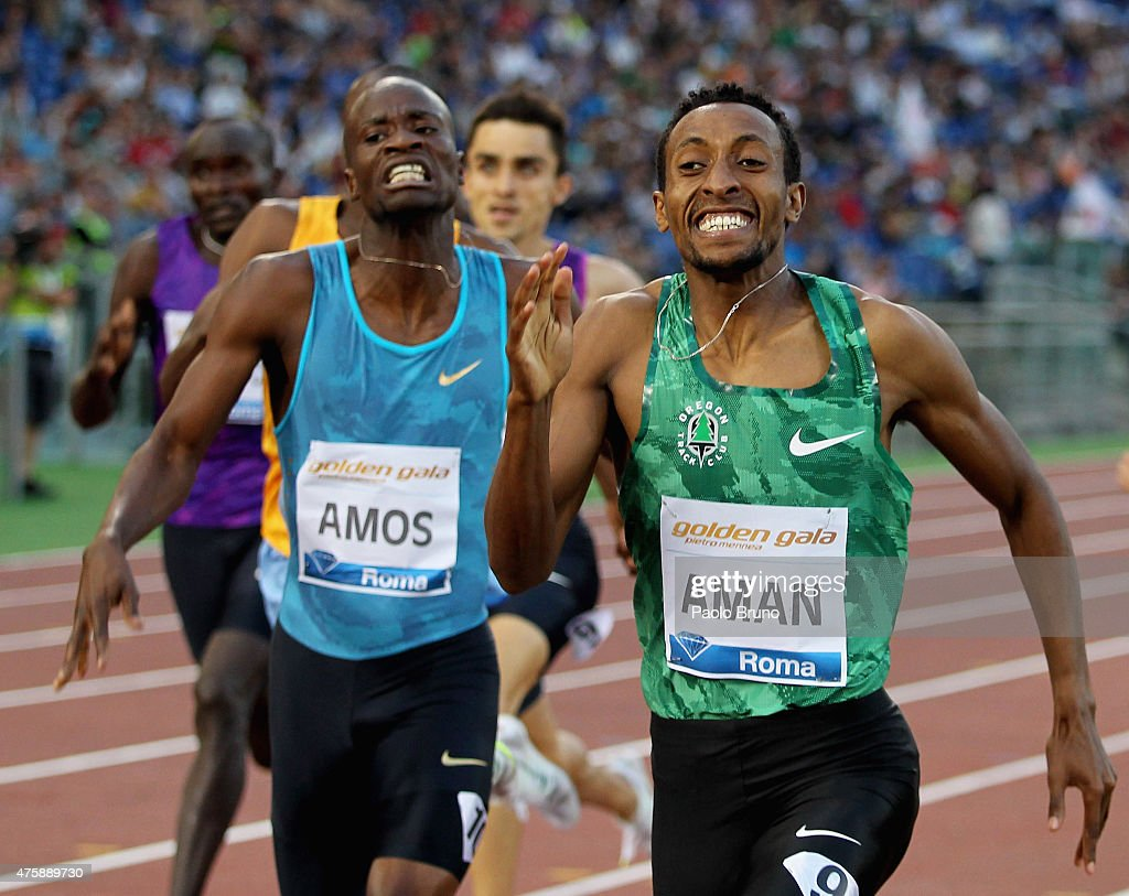 <a gi-track='captionPersonalityLinkClicked' href=/galleries/search?phrase=Mohammed+Aman&family=editorial&specificpeople=7149144 ng-click='$event.stopPropagation()'>Mohammed Aman</a> of Ethiopia wins the men's 800m during the IAAF Golden Gala at Stadio Olimpico on June 4, 2015 in Rome, Italy.