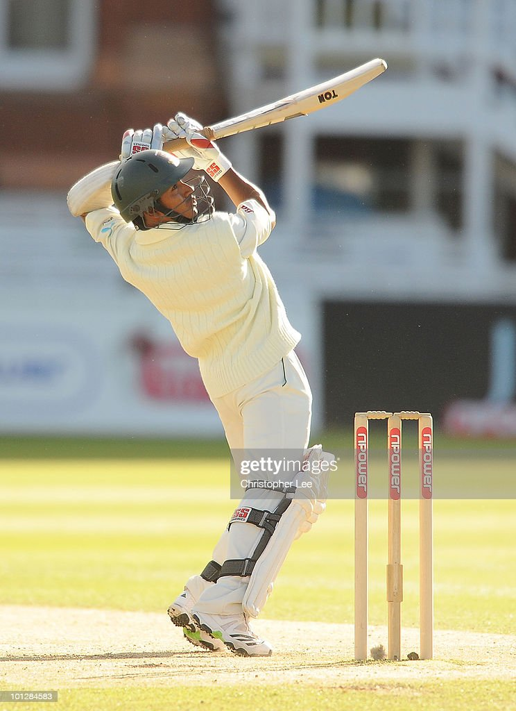 Mohammed Ashraful of Bangladesh in action during day 4 of the 1st npower Test match between England and Bangladesh at Lords on May 30 2010 in London...