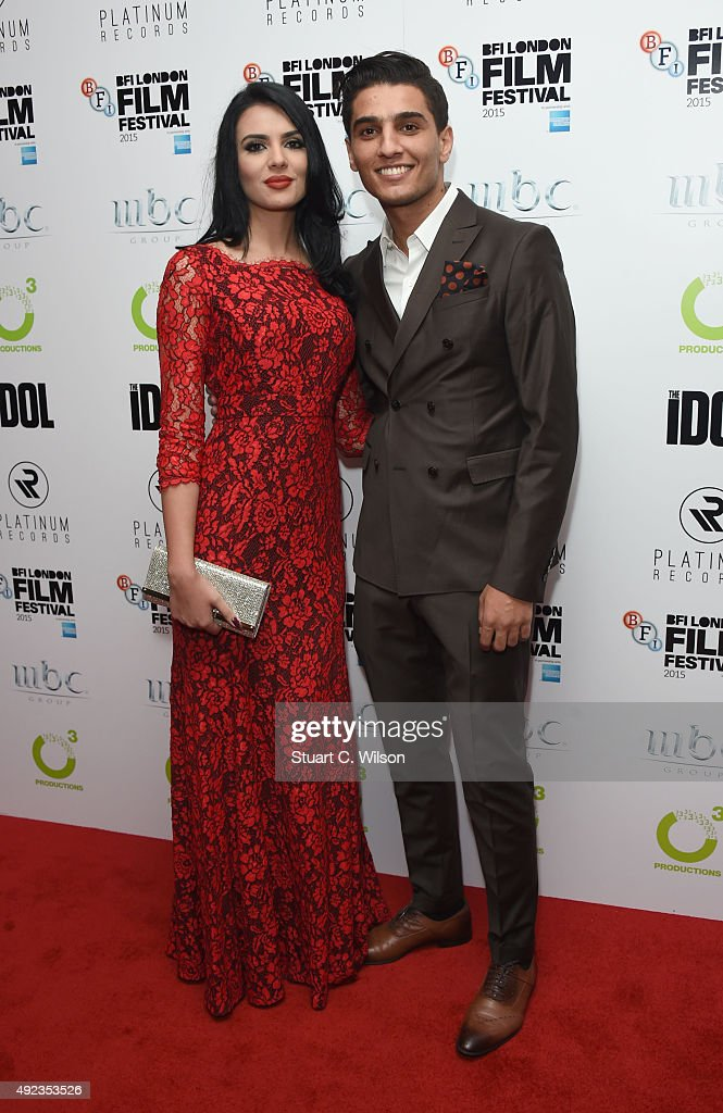 <a gi-track='captionPersonalityLinkClicked' href=/galleries/search?phrase=Mohammed+Assaf&family=editorial&specificpeople=10886300 ng-click='$event.stopPropagation()'>Mohammed Assaf</a> and Lina Qishawi attend 'The Idol' Sonic Gala, In Association With MOBO Film during the BFI London Film Festival at Vue Leicester Square on October 12, 2015 in London, England.