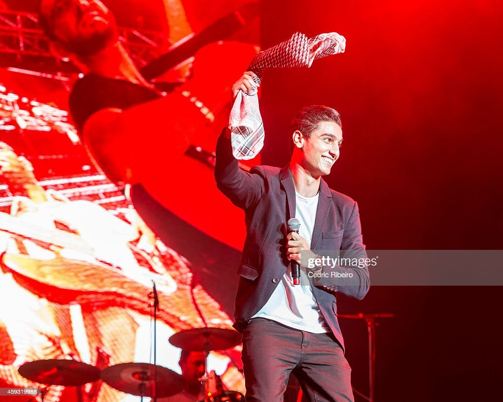 <a gi-track='captionPersonalityLinkClicked' href=/galleries/search?phrase=Mohammed+Assaf&family=editorial&specificpeople=10886300 ng-click='$event.stopPropagation()'>Mohammed Assaf</a> performs at a concert during the Abu Dhabi Formula One Grand Prix on November 20, 2014 in Abu Dhabi, United Arab Emirates.