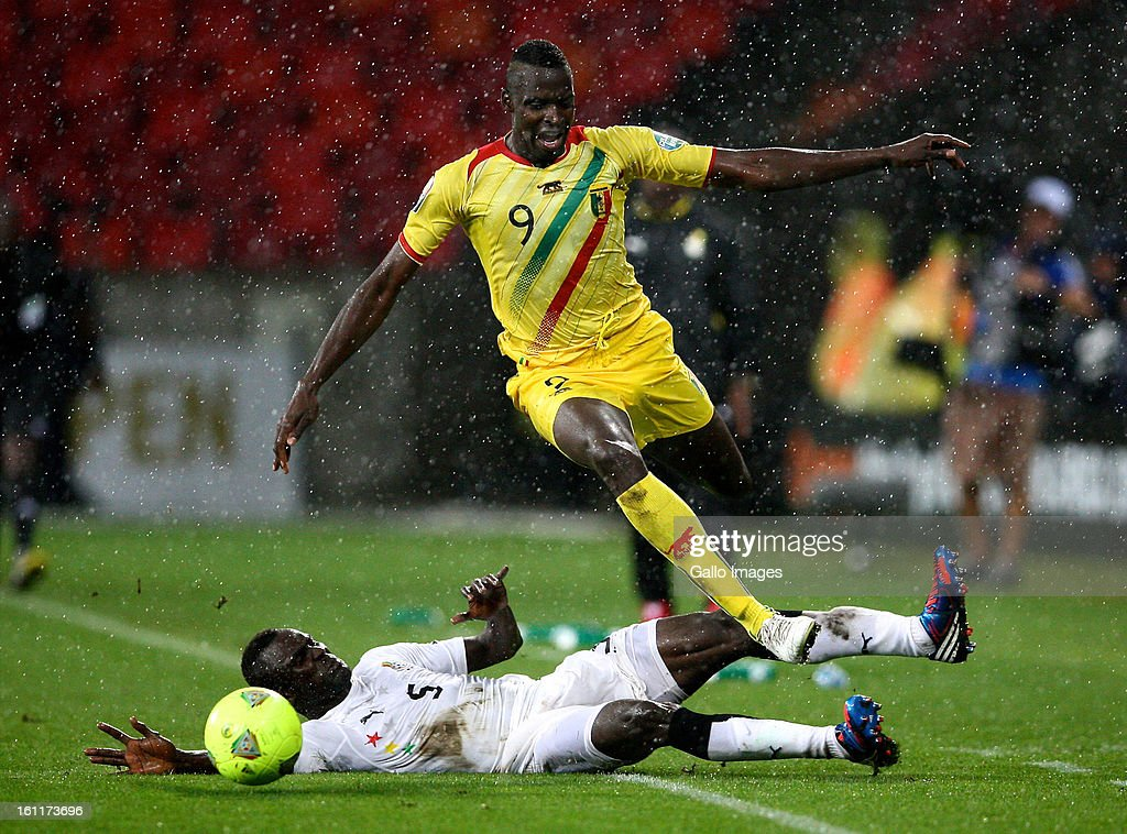 AFRICA FEBRUARY 09 Mohammed Awal of Ghana and Tidiane Cheick Diabate of Mali during the 2013 Orange African Cup of Nations 3rd and 4th PlayOff match...