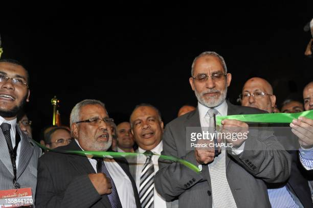 Mohammed Badie is the eighth General Guide of the Egyptian Muslim Brotherhood he inaugurates the headquarters of the Muslim Brotherhood on May 21...