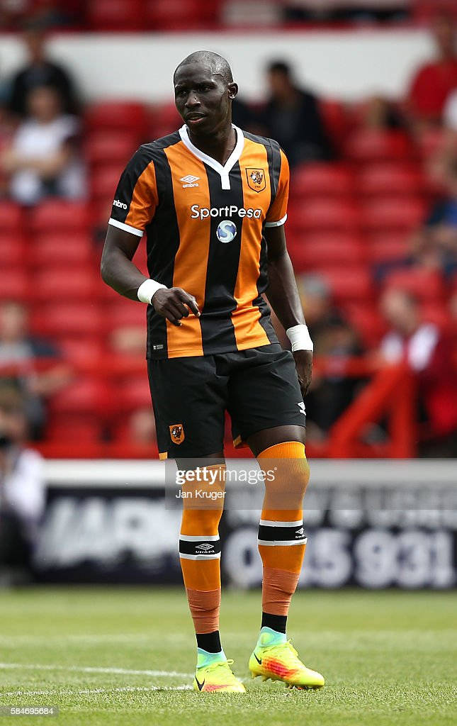 Mohammed Diame of Hull City during the pre-season friendly match between Nottingham Forest and Hull City at City Ground on July 30, 2016 in Nottingham, England.