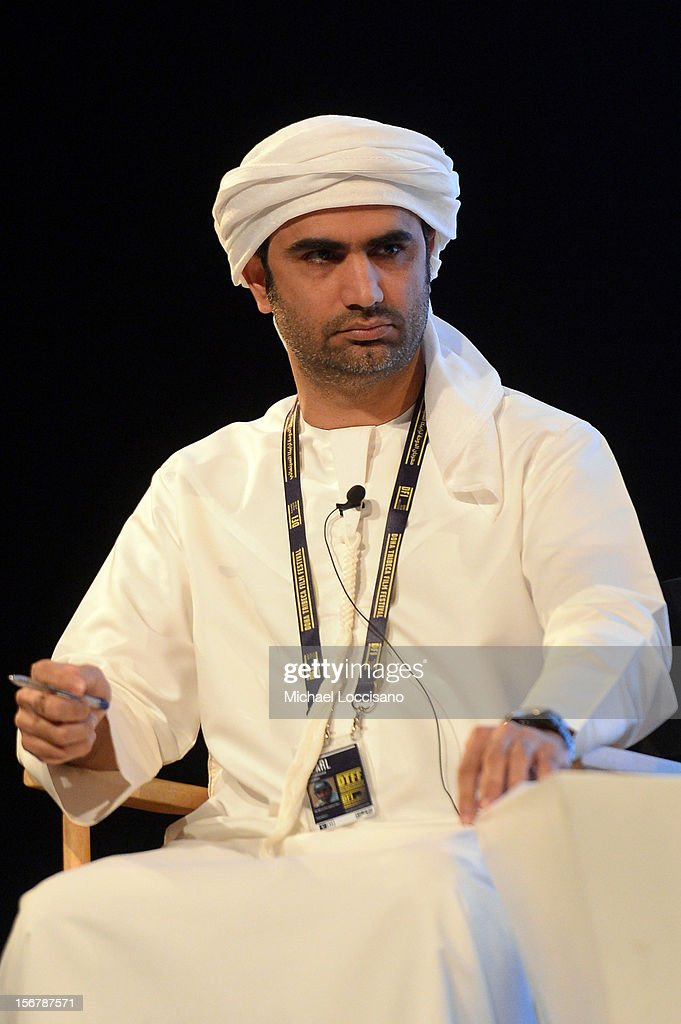 Mohammed Hassan speaks at the Khaleeji Films Overcoming Stereotypes panel during the 2012 Doha Tribeca Film Festival at Katara Opera House on November 21, 2012 in Doha, Qatar.