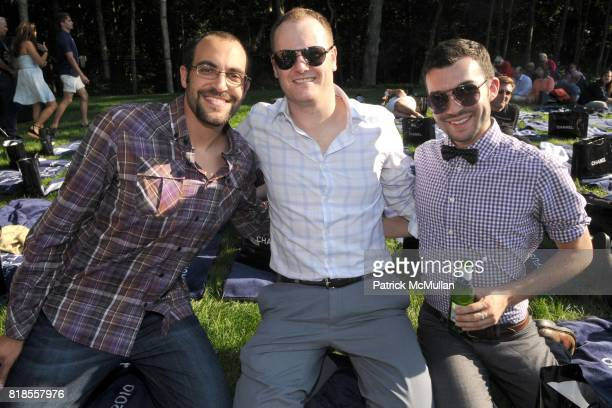 Mohammed Jason Herbert and Zach Ligas attend The WATERMILL CONCERT 2010 'Last Song Of Summer' at The Watermill Center on August 28 2010 in Watermill...