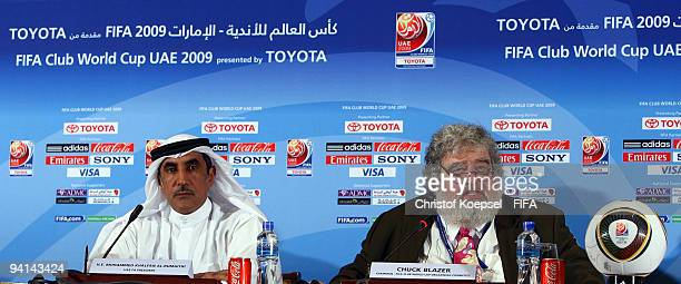 Mohammed Khalfan AlRumaithi president of United Arabic Emirates football association and Chuck Blazer chiarman of FIFA Club World Cup organising...
