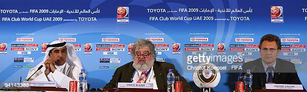 Mohammed Khalfan AlRumaithi president of United Arabic Emirates football association Chuck Blazer chairman of FIFA Club World Cup and FIFA general...