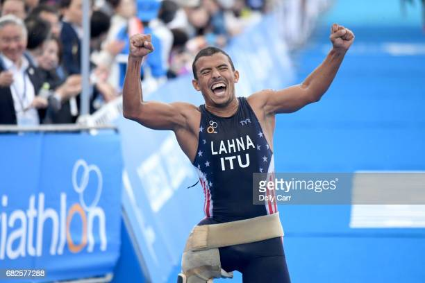 Mohammed Lahna of Morocco during the ITU World Championship Series ParaTriathlon on May 13 2017 in Yokohama Japan