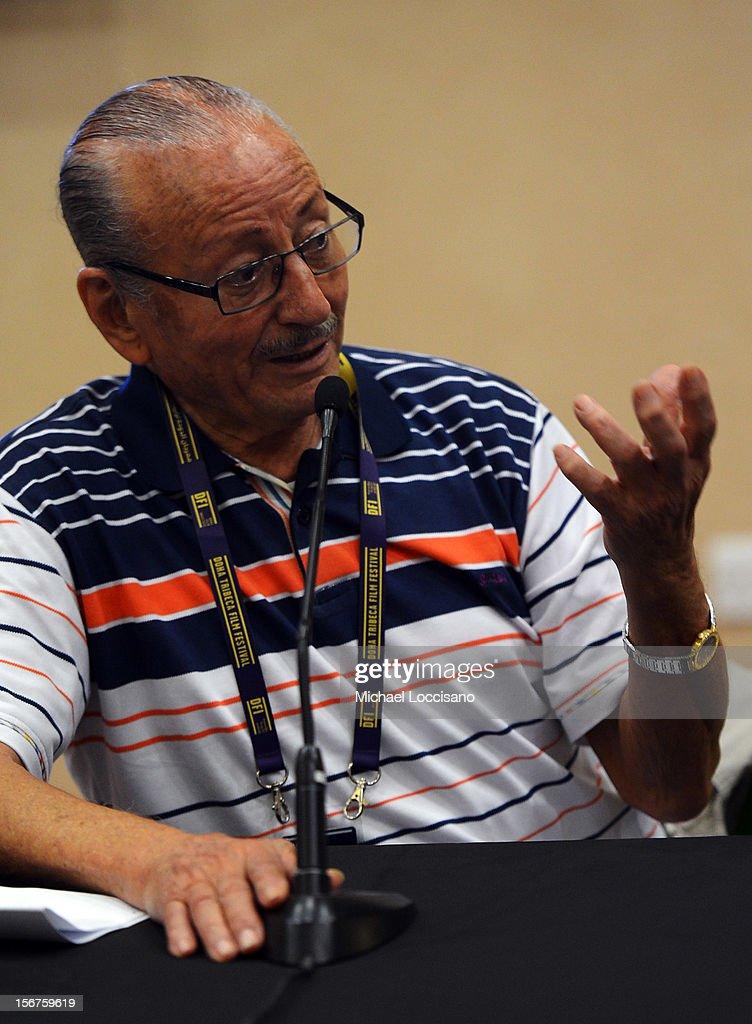 Mohammed Lakhdar-Hamina at the Algerian and Lebanese Film in Conversation during the 2012 Doha Tribeca Film Festival at Katara Art Center on November 20, 2012 in Doha, Qatar.