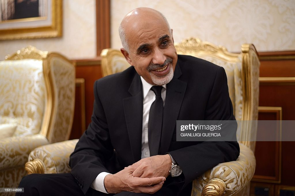 Mohammed Megaryef president of Libya's ruling General National Congress gives an exclusive interview to the French weekly 'Le Point' at his office on...