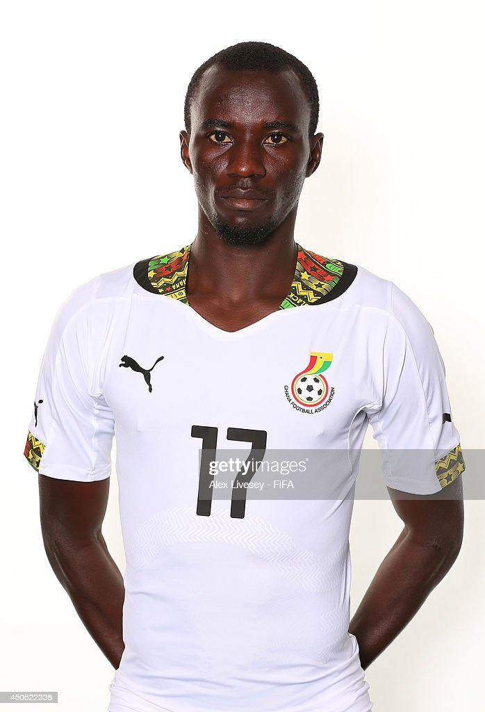 <a gi-track='captionPersonalityLinkClicked' href=/galleries/search?phrase=Mohammed+Rabiu&family=editorial&specificpeople=6335728 ng-click='$event.stopPropagation()'>Mohammed Rabiu</a> of Ghana poses during the official FIFA World Cup 2014 portrait session on June 11, 2014 in Maceio, Brazil.