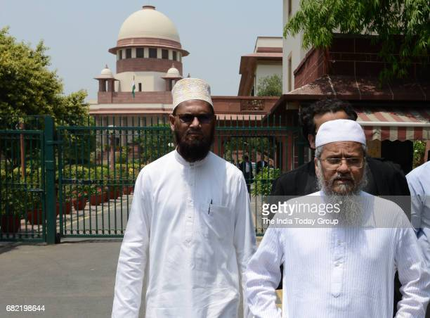 Mohammed Saeed Noori after the historic hearing on the constitutional validity of triple talaq at the Supreme Court in New Delhi