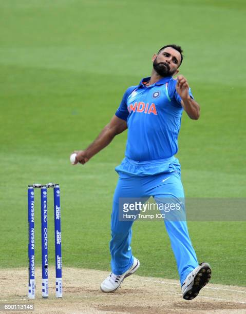 Mohammed Shami of India during the ICC Champions Trophy Warmup match between India and Bangladesh at the Kia Oval on May 30 2017 in London England
