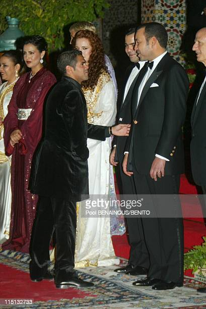 Mohammed VI and his wife Salma at the Marrakech film festival in Morocco on September 19 2002 Djamel Debouz