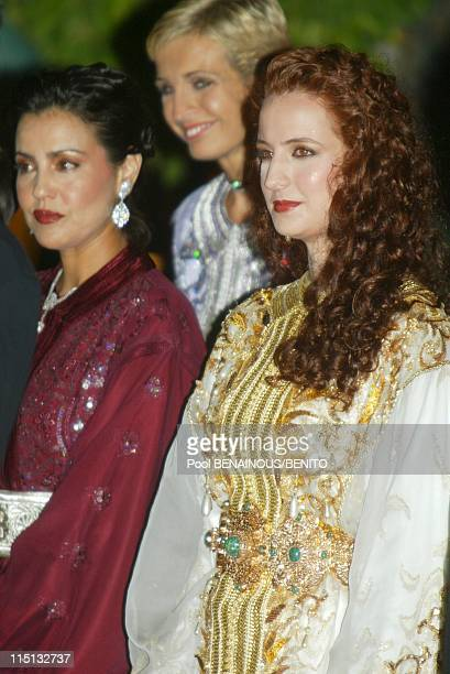 Mohammed VI and his wife Salma at the Marrakech film festival in Morocco on September 19 2002 Princess Salma