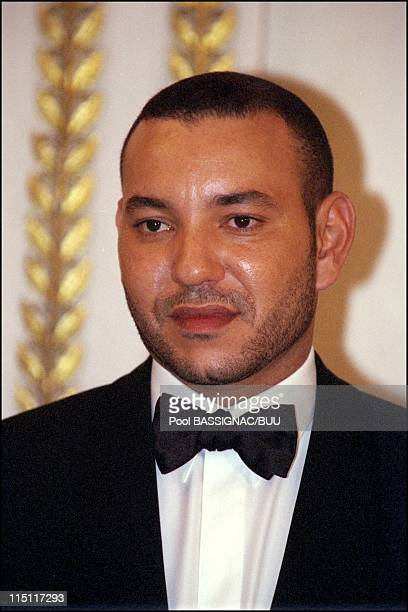 Mohammed VI Dinner at the Elysee in Paris France on March 20 2000 Mohammed VI